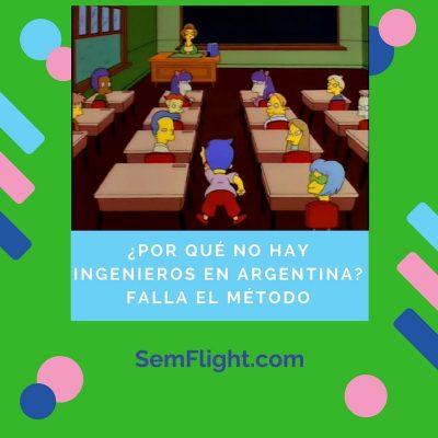 ¿Por qué no hay ingenieros en Argentina? Es el método de educar