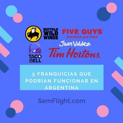 5 Franquicias que podrían funcionar en Argentina